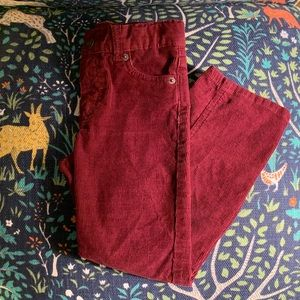 Cat & Jack girls burgundy corduroy pants size 5